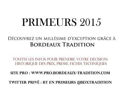 Primeurs 2015